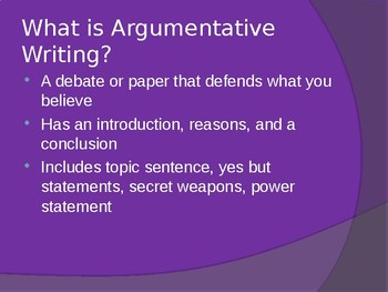 Argumentative Power Point