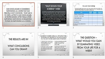 Argumentative Prompt - Shut Down Screens Week
