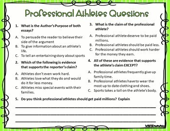 Argumentative Reading Task Cards