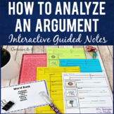Argumentative Text Analysis Printable Guided Notes Middle School