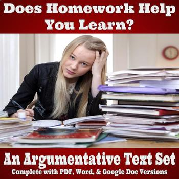 Argumentative Text Set - Does Homework Help You Learn?