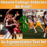 Argumentative Text Set - Should College Athletes Be Paid?