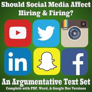 Argumentative Text Set - Should Social Media Affect Hiring and Firing?