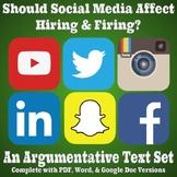 Argumentative Text Set - Should Social Media Affect Hiring