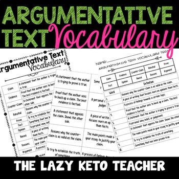 Argumentative Text Vocabulary Set