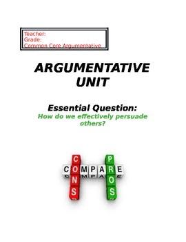 Argumentative Unit for Middle School