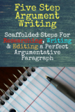 Argumentative Writing 5 Step Master Organizer