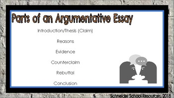 Argumentative Writing: A Lesson for Middle and High School Classrooms