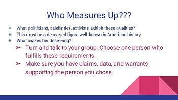 Argumentative Writing Activity- Choose a figure for the new 10 bill