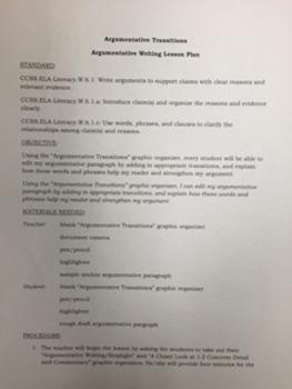 Argumentative Writing-Argumentative Transitions
