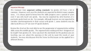 Argumentative Writing Basics for Middle Schoolers