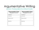Argumentative Writing Body Template