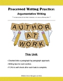Argumentative Writing: Chunked Writing Practice (Ideal Wri