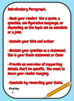 Argumentative Writing Classroom Poster Set