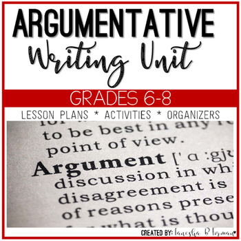 Argumentative Writing - Common Core Aligned