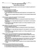 Argumentative Writing: Final Test (common core)