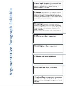 Argumentative Writing Foldables