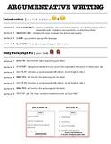 Argumentative Writing Formula