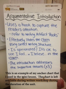 Argumentative Writing Lesson Introduction, Claim, and Reasoning