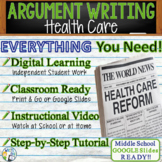 Argumentative Writing Lesson / Prompt w/ Digital Resource – Health Care Reform