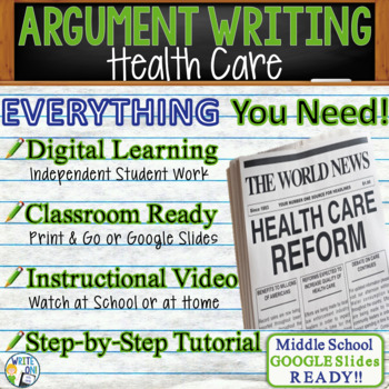 argumentative writing lesson  prompt w digital resource  health  argumentative writing lesson  prompt w digital resource  health care  reform