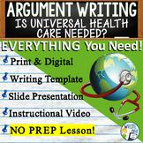 Argumentative Writing Middle School w/ Graphic Organizer, Rubric - Health Care