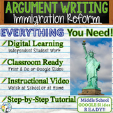 Argumentative Writing Lesson / Prompt w/ Digital Resource – Immigration Reform