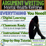 Argumentative Writing Lesson Prompt w/ Digital Resource - Mental Health Funding