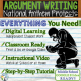 Argumentative Writing Lesson Prompt w/ Digital Resource National Anthem Protests