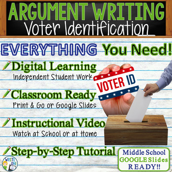 Argumentative Writing Lesson / Prompt w/ Digital Resource – Voter Identification