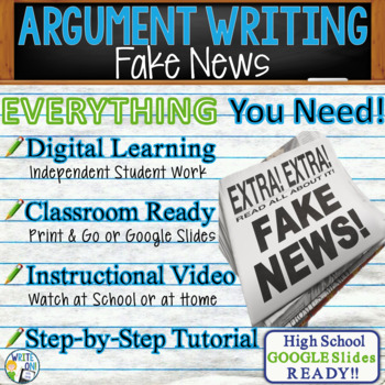 Argumentative Writing Lesson / Prompt – with Digital Resource – Fake News
