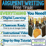 Argumentative Writing Lesson / Prompt – with Digital Resource – Free Trade