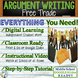 Argumentative Writing Lesson / Prompt with Digital Resource    Free Trade