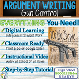 Argumentative Writing Lesson / Prompt with Digital Resource - Gun Control