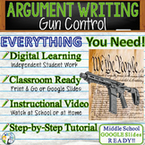 Argumentative Writing Lesson / Prompt – with Digital Resource – Gun Control