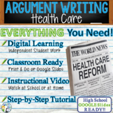 Argumentative Writing Essay with Graphic Organizer, Rubric, Video - Health Care
