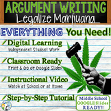 Argumentative Writing Lesson Prompt with Digital Resource Marijuana Legalization