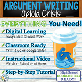 Argumentative Writing Lesson / Prompt with Digital Resource - Opioid Crisis