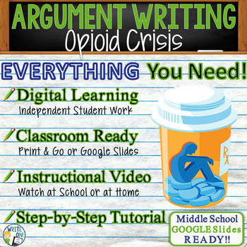 Argumentative Writing Lesson / Prompt – with Digital Resource – Opioid Crisis