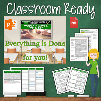 Argumentative Writing Lesson Prompt with Digital Resource     Prayer in Schools