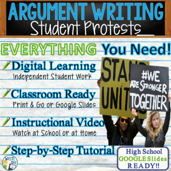 Argumentative Writing Lesson / Prompt – with Digital Resource – Student Protests
