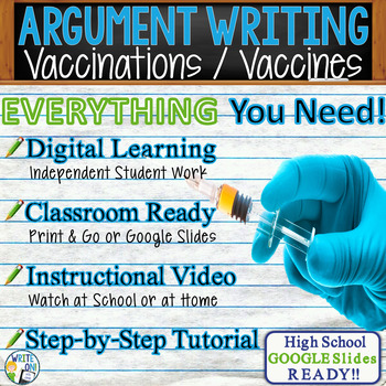Argumentative Writing Lesson / Prompt – with Digital Resource – Vaccinations