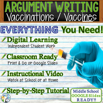 Argumentative Writing Lesson / Prompt with Digital Resource - Vaccinations