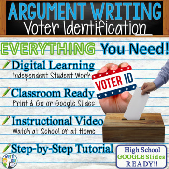 Argumentative Writing Lesson Prompt with Digital Resource  Voter Identification