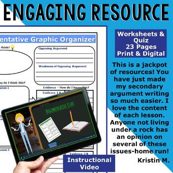 Argumentative Writing Lessons / Prompts w/ Digital Resources BUNDLE! 17 Lessons!