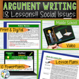 Argumentative Writing Lessons / Prompts w/ Digital Resourc