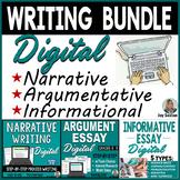 Argumentative, Narrative, & Informative Writing DISTANCE LEARNING Bundle