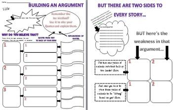 Argumentative Writing Organizer