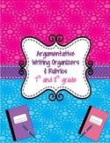 Argumentative Writing Organizers & Rubrics-Common Core: Grades 7-8