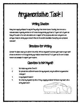 PARCC/CC Aligned Argumentative Writing Packet 1